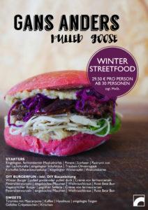 Burger gans anders - Burger mit Gans - pulled goose