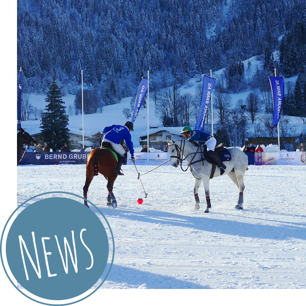 Polo-Sport auf der großen Schneebühne